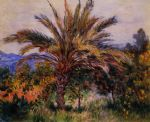 claude monet a palm tree at bordighera painting-85466