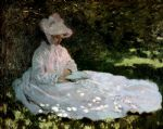 a woman reading by claude monet paintings