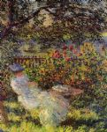 claude monet paintings - alice hoschede in the garden by claude monet