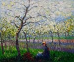 an orchard in spring ii by claude monet paintings