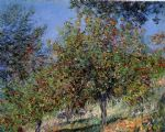 claude monet apple trees on the chantemesle hill painting-76942