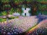 artist s garden at giverny iii by claude monet painting