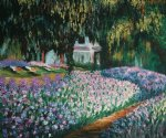 artist s garden at giverny by claude monet paintings