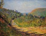 claude monet at les petit dalles painting