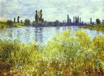 bank of the seine vetheuil by claude monet paintings