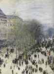 claude monet paintings - boulevard des capucines by claude monet