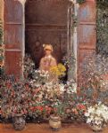 camille at the window by claude monet paintings
