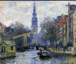 canal in amsterdam by claude monet paintings