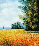 champ d avoine oat field by claude monet paintings