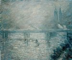 charing cross bridge by claude monet paintings