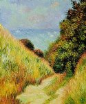 chemin de la cavee pourville by claude monet paintings