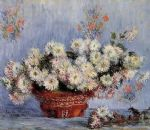 chrysanthemums 1 by claude monet paintings
