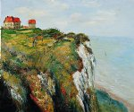 cliff at dieppe ii by claude monet paintings