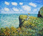cliff walk at pourville ii by claude monet paintings