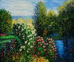 claude monet corner of the garden at montgeron ii painting