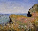 edge of the cliff at pourville by claude monet paintings