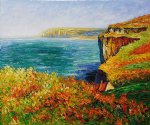 falaise a varengeville by claude monet paintings