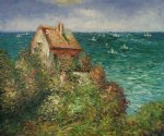 claude monet fishermans cottage at varengeville painting