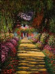 claude monet garden path at giverny iii painting