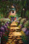claude monet garden path at giverny iv painting