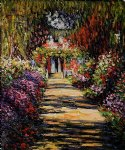 garden path at giverny by claude monet painting