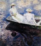 girls in a boat by claude monet paintings