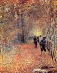 claude monet hunting painting