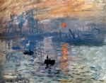 impression sunrise by claude monet painting