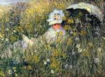 in the meadow by claude monet paintings