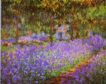 irises in monet s garden by claude monet paintings