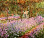 irises in monets garden by claude monet paintings