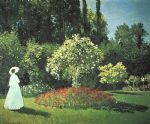 jeanne marguerite lecadre in the garden by claude monet paintings