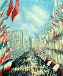 la rue montorgueil paris festival of june 30 1878 ii by claude monet paintings