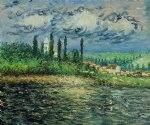 landscape with thunderstorm by claude monet paintings