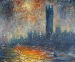 london. the houses of parliament 1905 by claude monet paintings