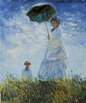 madame monet and her son by claude monet paintings