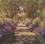 main path through the garden at giverny by claude monet paintings