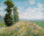 meadow with poplars by claude monet paintings