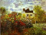 monet s garden at argenteuil by claude monet paintings