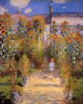 monet s garden at vetheuil 1881 by claude monet paintings