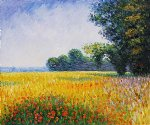 claude monet oat fields painting