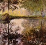 pond at montgeron by claude monet paintings