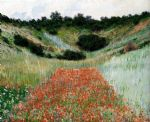 poppy field in a hollow near giverny by claude monet paintings