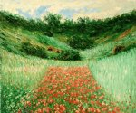 poppy field in a valley near giverny by claude monet paintings
