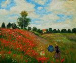 claude monet poppy field in argenteuil ii painting