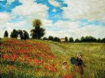 claude monet poppy field in argenteuil iii painting