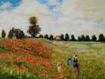 poppy field in argenteuil by claude monet painting