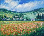 claude monet poppy field near giverny painting