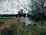 promenade near argenteuil by claude monet paintings