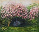 resting under the lilacs ii by claude monet paintings